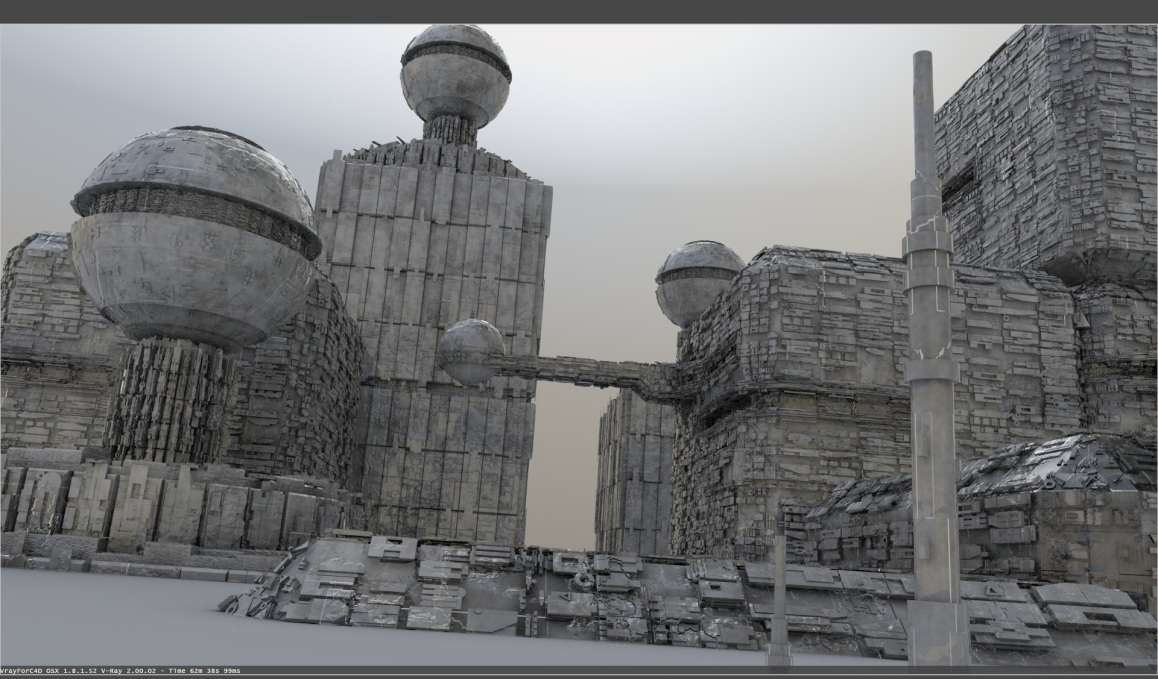 Greebler city vray